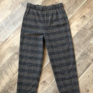 Zara Woman checkered high waisted trousers size S